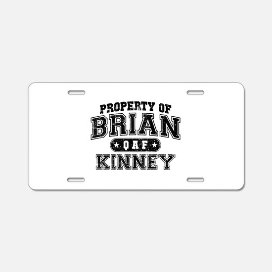 Property of Brian Kinney Aluminum License Plate