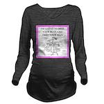 badminton Long Sleeve Maternity T-Shirt