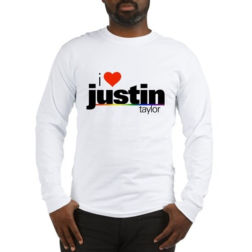 I Heart Justin Taylor Long Sleeve T-Shirt