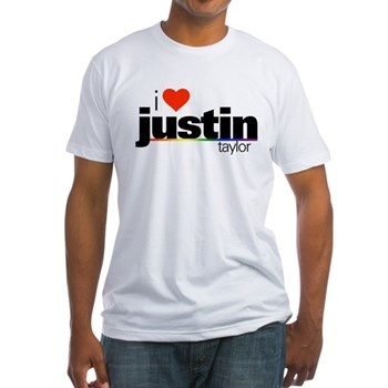 I Heart Justin Taylor Fitted T-Shirt