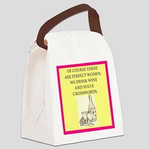 crossword Canvas Lunch Bag