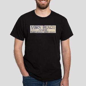 York Beach Lat Long T-Shirt