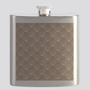 Abstract Dandelions Tan 1 Flask
