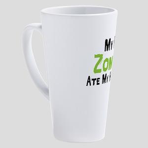 My Pet Zombies Ate My Homework Sum 17 oz Latte Mug