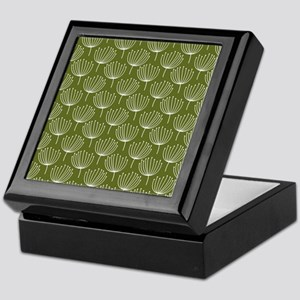 Abstract Dandelions on Green Backgrou Keepsake Box
