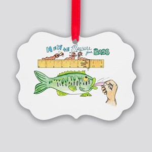 How to Measure your Bass Picture Ornament
