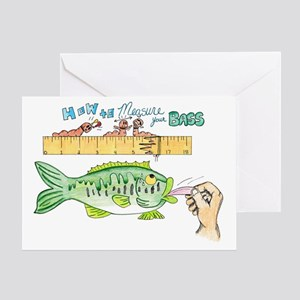 Fishing greeting cards cafepress how to measure your bass greeting card m4hsunfo
