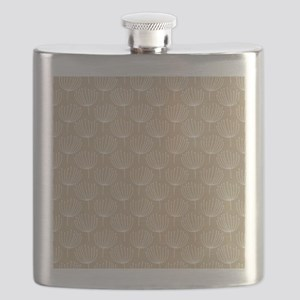 Abstract Dandelions - Light Tan Flask