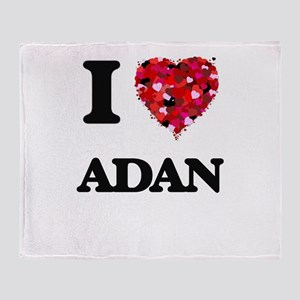 I Love Adan Throw Blanket