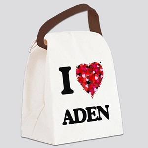 I Love Aden Canvas Lunch Bag