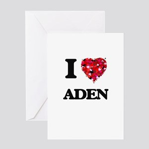 I Love Aden Greeting Cards