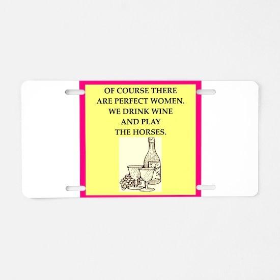 horse racing Aluminum License Plate