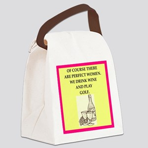 golf Canvas Lunch Bag