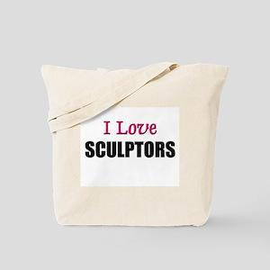 I Love SCULPTORS Tote Bag