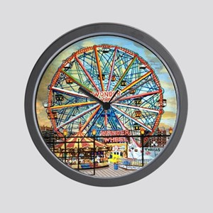 Wonder Wheel Park Wall Clock