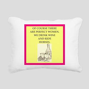 equestrian Rectangular Canvas Pillow