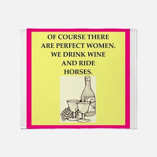equestrian Throw Blanket