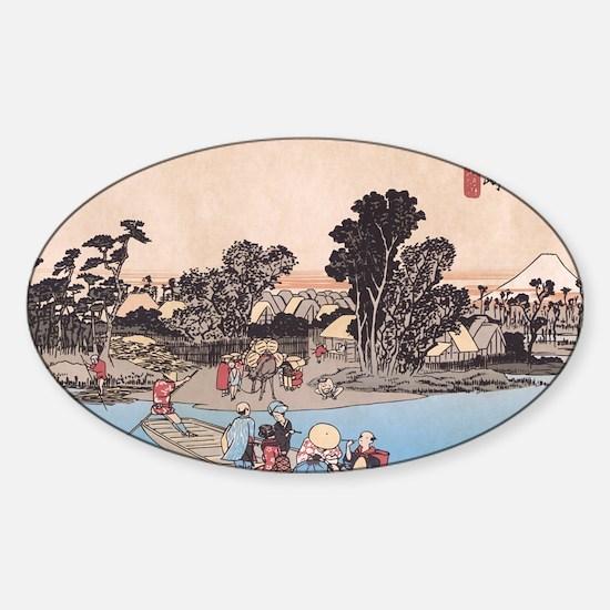 River Life Kawasaki Oval Decal