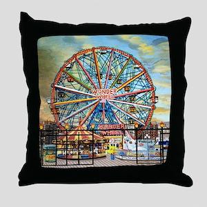 Wonder Wheel Park Throw Pillow