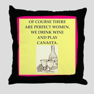 canasta Throw Pillow