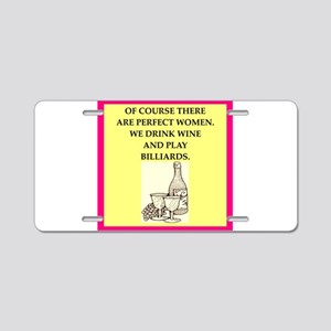 billiards Aluminum License Plate
