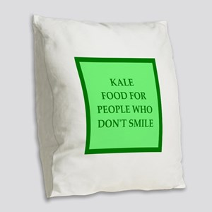 kale Burlap Throw Pillow