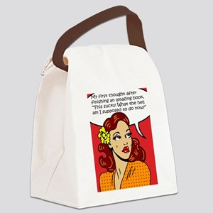 After finishing an amazing book Canvas Lunch Bag