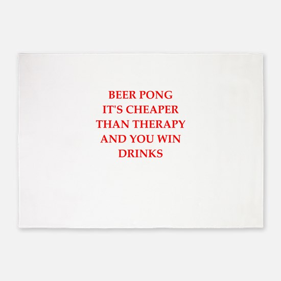 beer pong joke 5'x7'Area Rug