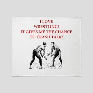 wrestling jokes Throw Blanket