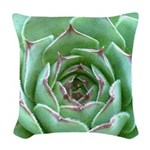 Succulent Woven Throw Pillow