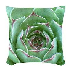 Succulent Woven Throw Pillow