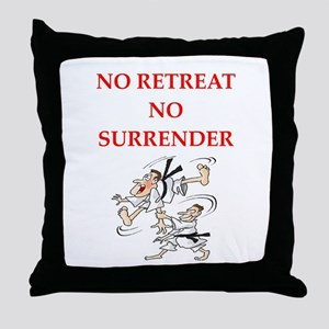 martial arts gifts Throw Pillow