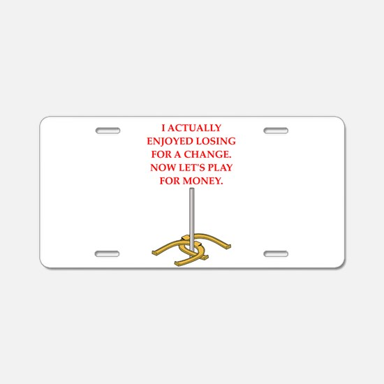 horseshoes gifts Aluminum License Plate