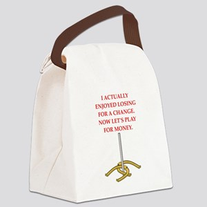horseshoes gifts Canvas Lunch Bag