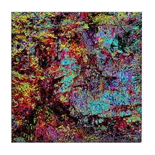 Dark Abstract Tile Coaster