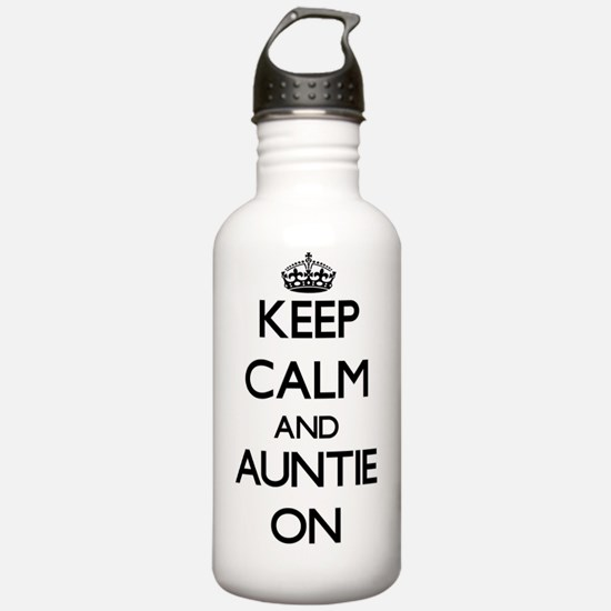 Keep Calm and Auntie O Water Bottle