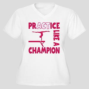 PRACTICE Women's Plus Size V-Neck T-Shirt