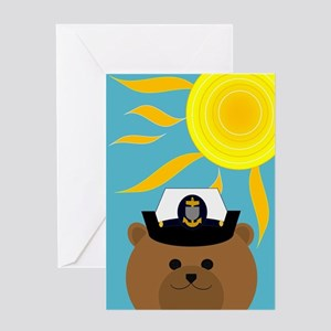 Coast Guard Chief Summer Miss You Greeting Cards