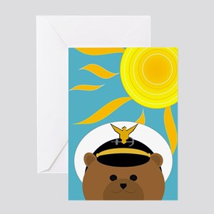 Coast Guard Officer Summer Miss You Greeting Cards