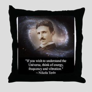 Tesla Universe Throw Pillow