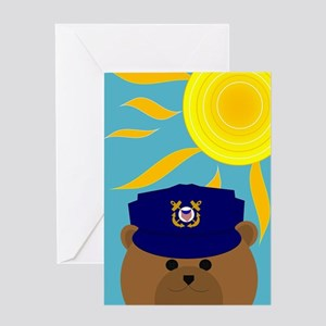 Coast Guard Coastie Summer Miss You Greeting Cards