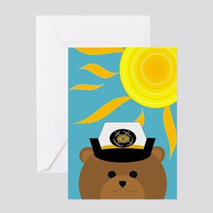 Coast Guard Enlisted Summer Miss Greeting Cards