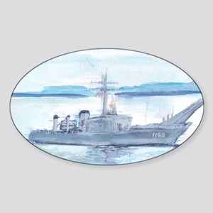 USS Saginaw Sticker (Oval)