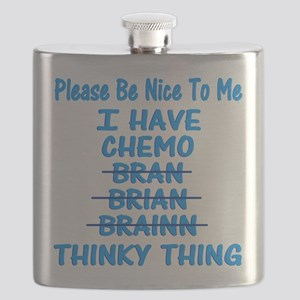 Funny Cancer Chemo Brain Blue Flask