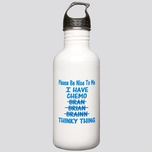 Funny Cancer Chemo Bra Stainless Water Bottle 1.0L