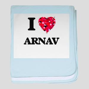 I Love Arnav baby blanket