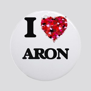 I Love Aron Ornament (Round)