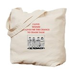tennis joke Tote Bag