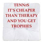 tennis joke Tufted Chair Cushion
