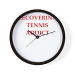 tennis joke Wall Clock